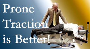 Millville spinal traction applied lying face down – prone – is best according to the latest research. Visit Wilson Family Chiropractic.