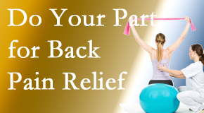 Wilson Family Chiropractic invites back pain sufferers to participate in their own back pain relief recovery.