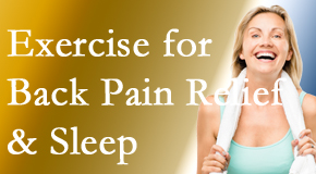 Wilson Family Chiropractic shares new research about the benefit of exercise for back pain relief and sleep.
