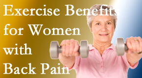 Wilson Family Chiropractic shares new research about how beneficial exercise is, especially for older women with back pain.