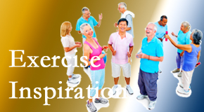 Wilson Family Chiropractic hopes to inspire exercise for back pain relief by listening carefully and encouraging patients to exercise with others.