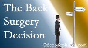 Millville back surgery for a disc herniation is an option to be carefully studied before a decision is made to proceed.