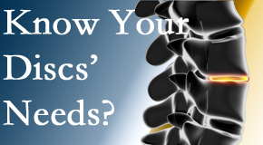 Your Millville chiropractor knows all about spinal discs and what they need nutritionally. Do you?