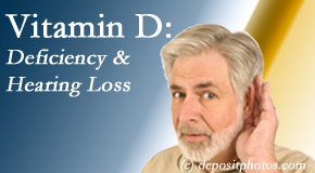 Wilson Family Chiropractic presents new research about low vitamin D levels and hearing loss.
