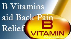 Wilson Family Chiropractic may include B vitamins in the Millville chiropractic treatment plan of back pain sufferers.