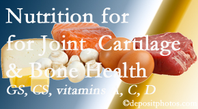 Wilson Family Chiropractic explains the benefits of vitamins A, C, and D as well as glucosamine and chondroitin sulfate for cartilage, joint and bone health.