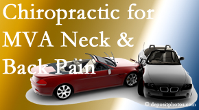 Wilson Family Chiropractic offers gentle relieving Cox Technic to help heal neck pain after an MVA car accident.
