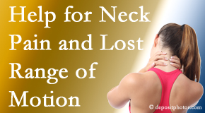 Wilson Family Chiropractic helps neck pain patients with limited spinal range of motion find relief of pain and restored motion.