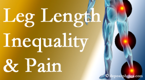 Wilson Family Chiropractic checks for leg length inequality as it is related to back, hip and knee pain issues.