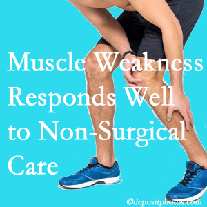 Millville chiropractic non-surgical care often improves muscle weakness in back and leg pain patients.