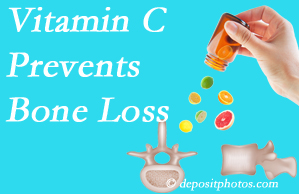 Wilson Family Chiropractic may recommend vitamin C to patients at risk of bone loss as it helps prevent bone loss.