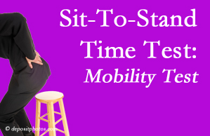 Millville chiropractic patients are encouraged to check their mobility via the sit-to-stand test…and improve mobility by doing it!