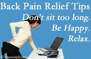 Wilson Family Chiropractic reminds you to not sit too long to keep back pain at bay!