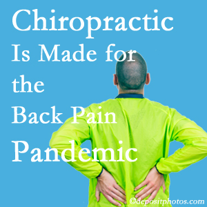 Millville chiropractic care at Wilson Family Chiropractic is prepared for the pandemic of low back pain.