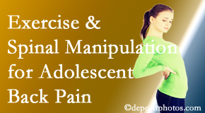 Wilson Family Chiropractic uses Millville chiropractic and exercise to help back pain in adolescents.