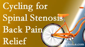 Wilson Family Chiropractic encourages exercise like cycling for back pain relief from lumbar spine stenosis.