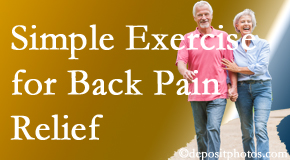 Wilson Family Chiropractic encourages simple exercise as part of the Millville chiropractic back pain relief plan.