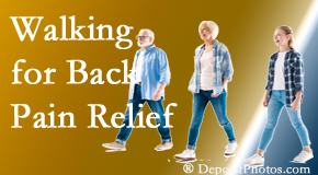 Wilson Family Chiropractic often recommends walking for Millville back pain sufferers.