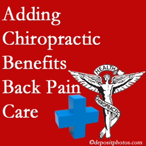 Added Millville chiropractic to back pain care plans helps back pain sufferers.