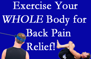 Millville chiropractic care includes exercise to help enhance back pain relief at Wilson Family Chiropractic.