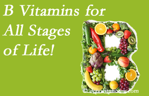 Wilson Family Chiropractic suggests a check of your B vitamin status for overall health throughout life.