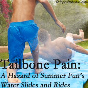 Wilson Family Chiropractic uses chiropractic manipulation to ease tailbone pain after a Millville water ride or water slide injury to the coccyx.