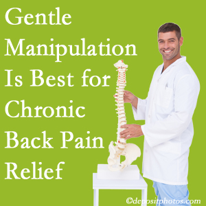 Gentle Millville chiropractic treatment of chronic low back pain is superior.