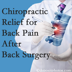 Wilson Family Chiropractic offers back pain relief to patients who have already undergone back surgery and still have pain.