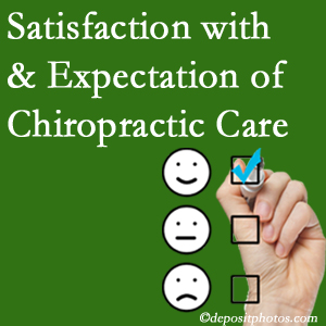 Millville chiropractic care provides patient satisfaction and meets patient expectations of pain relief.