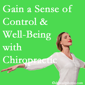 Using Millville chiropractic care as one complementary health alternative boosted patients sense of well-being and control of their health.