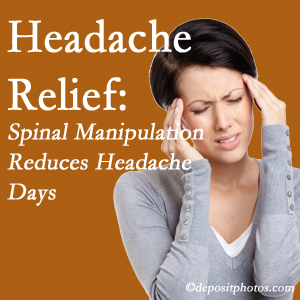 Millville chiropractic care at Wilson Family Chiropractic may reduce headache days each month.