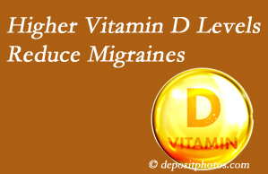 Wilson Family Chiropractic shares a new study that higher Vitamin D levels may reduce migraine headache incidence.