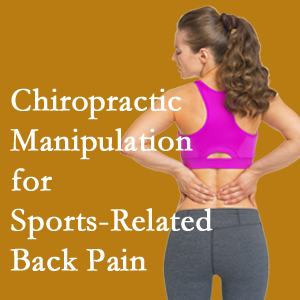 Millville chiropractic manipulation care for common sports injuries are recommended by members of the American Medical Society for Sports Medicine.